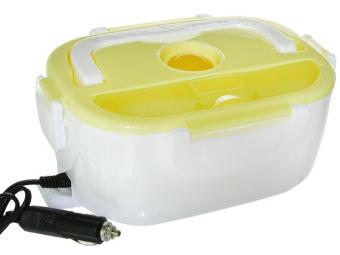 Ланч-бокс электрический 2 отделения 10*25см, от прикуривателя