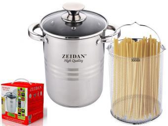Кастрюля 4,3л для спагетти и овощей нерж Z-50299