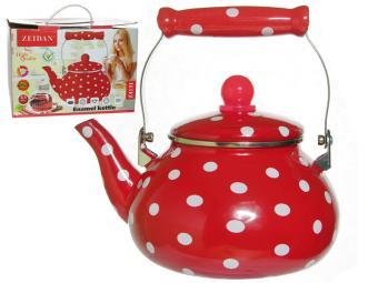 Чайник 2,5л эмалированный с рисунком, индукция
