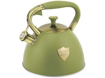 Чайник 3л со свистком нерж индукция Z-4280 зеленый