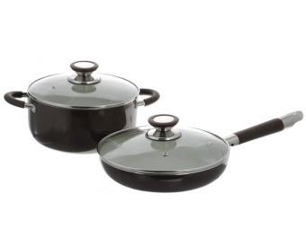 Набор кастрюля и сковорода с керамическим покрытием