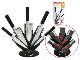 Набор ножей 6пр на складывающейся подставке Mayer&Boch