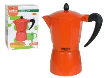 Кофеварка гейзерная 300мл Оранжевая
