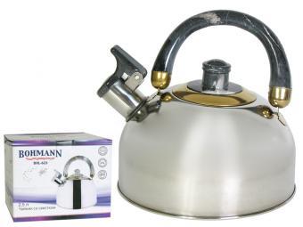 Чайник 2,5л металлический серый