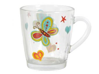Кружка Бабочки стекло 350мл