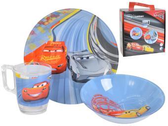 DISNEY CARS 3 Детский набор 3 предмета