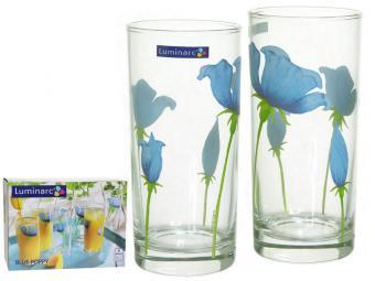 BLUE POPPY Набор стаканов 6шт 270мл высокие (16830)