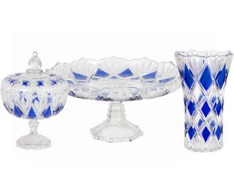 Набор посуды 3пр Даймонд синий