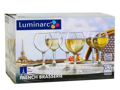 French Brasserie Набор фужеров для вина 6шт 210мл Luminarc