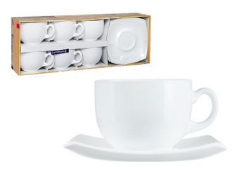 QUADRATO WHITE Чайный сервиз 12 пр 0,22л 97018