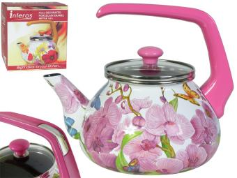 Чайник 2,2л Орхидея со стекл.кр.