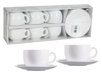 White essence Чайный сервиз на 6 персон 220мл