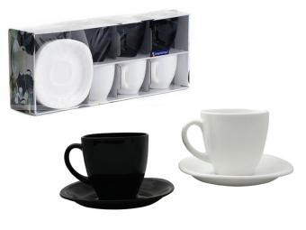 CARINE MIX чайный набор черно-белый 12 пр