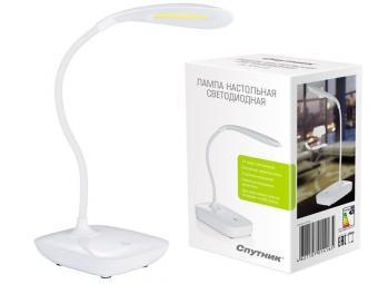 Светильник настольный светодиодный DL325LED белый гибкий держатель