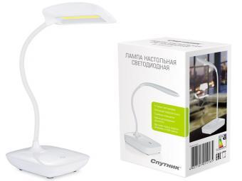 Светильник настольный светодиодный DL327LED белый, гибкий держатель