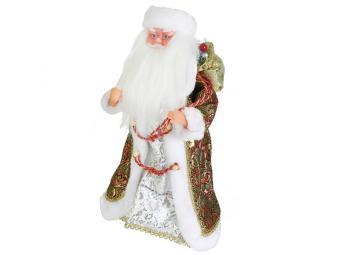 Дед мороз музыкальный Сафьян 40см