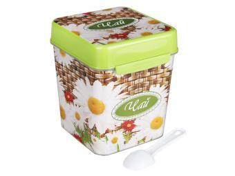 Емкость с ложкой Плетенка Чай 1,2л