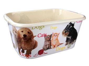 Таз для мытья животных Кот и пес 30л