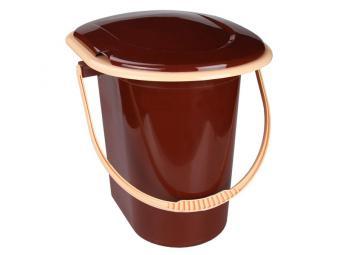 Ведро-туалет 17л (коричневый)