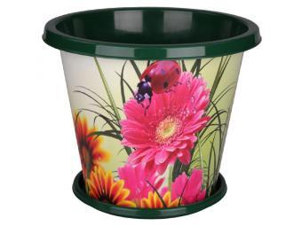 Горшок-кашпо Цветочный блюз 10л с поддоном