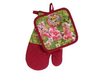 Прихватка и рукавица Цветы