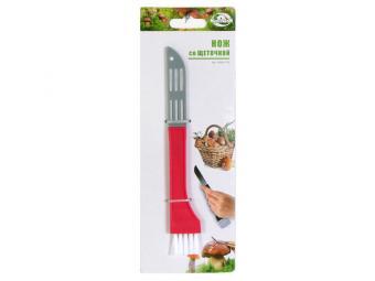 Нож грибника со щеточкой