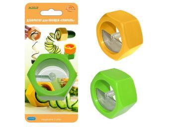 Декоратор для овощей Спираль 2 цвета