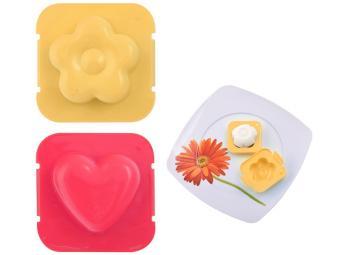 Форма для яиц 2 шт ''Сердце, Цветок'' 7*7см