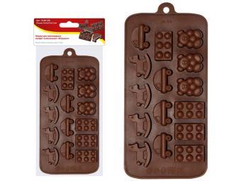 Форма для шоколадных конфет силиконовая ''Игрушки''