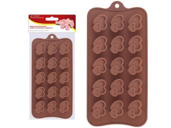 Форма для шоколадных конфет силиконовая ''Сердечки''