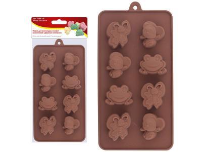 Форма для шоколадных конфет силиконовая ''Дружная компания''