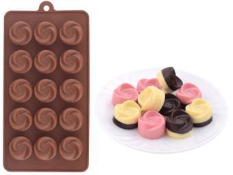 Форма для шоколадных конфет силиконовая ''Розочки''
