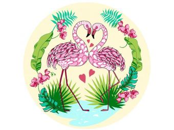 Доска разделочная - подставка под горячее ''Фламинго'' 20см