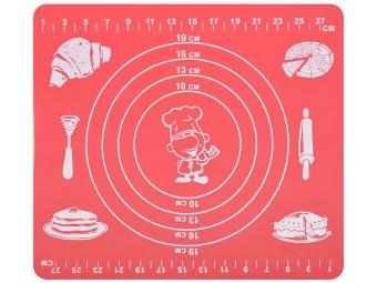 Коврик кулинарный силиконовый с разметкой