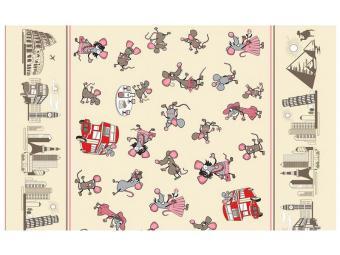 Полотенце ''Мышки-путешественники'' 42*72см