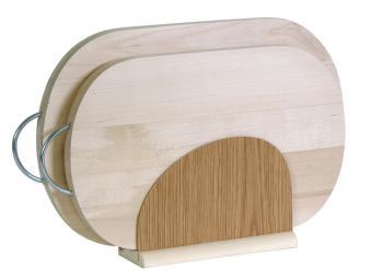 Набор деревянных овальных досок на подставке 2шт