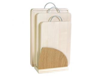 Набор деревянных досок на подставке 3шт