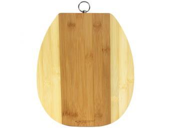 Доска раздел бамбук 240*280*10мм №2 овал