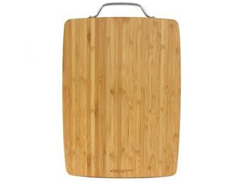 Доска раздел бамбук 280*180*18мм №1 с метал. ручкой