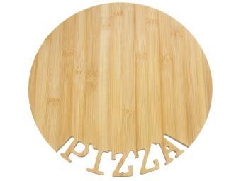 Доска разделочная бамбук Д330*12мм ПИЦЦА