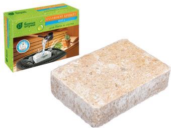 Брикет соляной с травами ''Мята'' 1300г для бани и сауны ''Банные штучки''