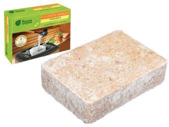 Брикет соляной с травами ''Ромашка'' 1300г для бани и сауны ''Банные штучки''