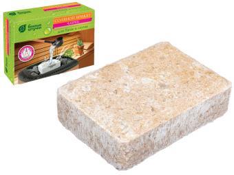 Брикет соляной с травами ''Чабрец'' 1300г для бани и сауны ''Банные штучки''