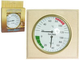 Банная станция термометр и гигрометр 2в1 в дереве