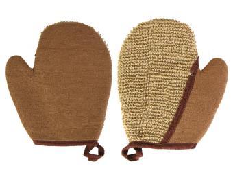 Мочалка из рами рукавичка 18*21 см