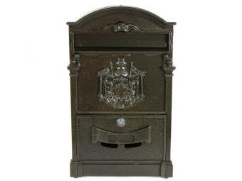 Ящик почтовый С Гербом №4010 под бронзу