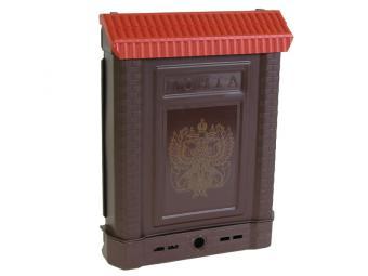 Ящик почтовый Премиум с замком коричневый