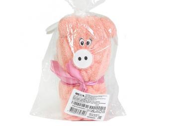 Полотенце Aquarelle МХ35 40/40 сувенир Свинка розово-персиковый