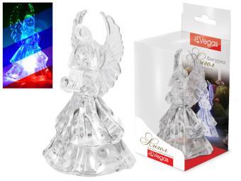 Фигурка ''Ангел'' светодиодная, 5*9,5см, меняет цвет, с батарейкой