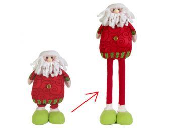 Снеговик, Дед мороз Красный сдвижные ноги 70см